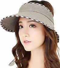 Mode Sonnenhut Baumwolle und Leinen Leere Hut Reiten Ein Sonnenhut Sommer Outdoor Sonnenschutz Sonnenhut Gute Qualität A +++ ( Farbe : 4 )