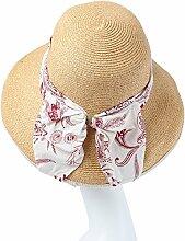 Mode Sonnenhut Falten Sie groß entlang der Sonne-Hut-Gezeiten-Abdeckung Strand-Kappe Wirksamer Sonnenschutz