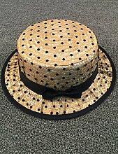 Mode Sonnenhut Neue weibliche Garn Garn Point Dome Strohhut Mode Wild Beach Sonnenschutz Sonnenhut Gute Qualität A +++ ( Farbe : 1 )