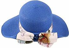 Mode Sonnenhut Sommer-Strand-Kappe Sonnenhut im Freien Sonnenschutz-Fliege Großer Dach-Strand-Sun-Hut Gute Qualität A +++ ( Farbe : 1 )