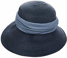 Mode Sonnenhut Sommer-Strohhut-Gezeiten-Haube Sommer-faltbarer Sun-Hut Sonnenschutz-Gesicht Großer Hut Wirksamer Sonnenschutz ( Farbe : 2 )