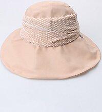 Mode Sonnenhut Weiblicher Sommer im Freien entlang der Sonne Hut Sonnenschutz UV-feste Farbe Sun Hat Beach Cap Gute Qualität A +++ ( Farbe : 2 )