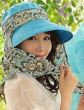 Mode Sonnenhut Weiblicher Sommer-Sonne-Hut-im Freien, der Sonnenschutz-Abdeckung der Windbreak-faltenden faltenden im Freienhut hat Gute Qualität A +++ ( Farbe : 4 )
