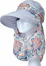 Mode Sonnenhut Weiblicher Sommer-Sonnenschutz-Kappe Faltbarer wilder Sommer-Sun-Hut-Spielraum Großer entlang des Hutes Gute Qualität A +++ ( Farbe : 10 )