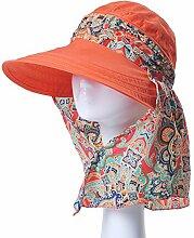 Mode Sonnenhut Weiblicher Sommer-Sonnenschutz-Kappe Faltbarer wilder Sommer-Sun-Hut-Spielraum Großer entlang des Hutes Gute Qualität A +++ ( Farbe : 1 )