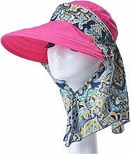 Mode Sonnenhut Weiblicher Sommer-Sonnenschutz-Kappe Faltbarer wilder Sommer-Sun-Hut-Spielraum Großer entlang des Hutes Gute Qualität A +++ ( Farbe : 7 )