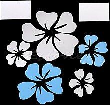Mode Spiegel Stil Blumen abnehmbaren Aufkleber Vinyl Art Wall Sticker Home Decor Home Innen Dekoration