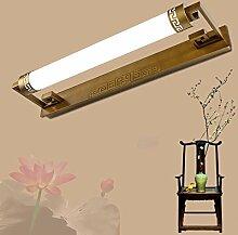 Mode Spiegellampen-WXP Europäische Art-Retro- Spiegel-vordere Lampen, Wand-Lampe, Badezimmer-Spiegel-Schrank-Lichter, wasserdichte geführte Verfassungs-Lichter, Beleuchtung-Befestigungen Innenraum Lampen-WXP ( farbe : Messing-20W 81CM )