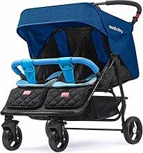 Mode Tandem Doppel-Kinderwagen Zwillingswagen,