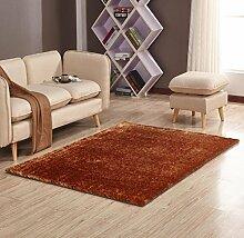 Mode Teppich Schlafzimmer Dekorieren Weiche Boden Teppich Warme Bunte Wohnzimmer Boden Teppiche Rutschfeste Matten, camel, 120x170cm