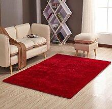 Mode Teppich Schlafzimmer Dekorieren Weiche Boden Teppich Warme Bunte Wohnzimmer Boden Teppiche Rutschfeste Matten , red , 70x140cm