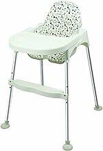 Mode tragbaren Stuhl Kind-Kind-Dinette Einstellbare Hocker Babyhochstuhl Babystuhl BB (Random Block) ( farbe : Weiß )