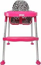 Mode tragbaren Stuhl Kind-Kind-Dinette Einstellbare Hocker Babyhochstuhl Babystuhl BB (Random Block) ( farbe : Pink )
