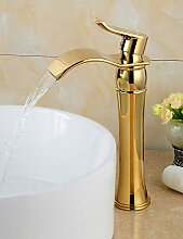 Mode vergoldetem Messing Bad Waschbecken Wasserhahn - Gold