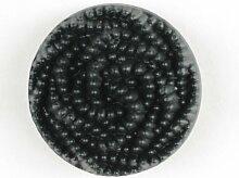 Modeknopf, Ösenknopf - Größe: 15mm - Farbe: schwarz
