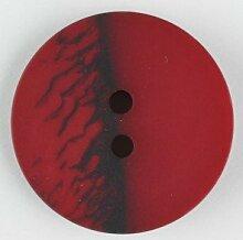 Modeknopf, zweiloch, 23mm, ro