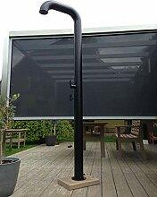Model Pipe Black solardusche, Edelstahl, 22 Liter,