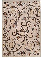 Modell Cordoba Teppich aus gewebter Jute, Wolle &