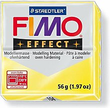 Modelliermasse Fimo effect transparent gelb, 57g