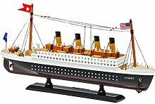 Modellschiff Titanic Schiffsmodell Schiff Holz 35cm Maritime Dekoration ship