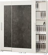 Moderano AKTENSCHRANK Grau, Weiß , 10 Fächer,