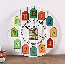 Modern/antik 40 cm Kreativ Kreativ drucken Studie das Wohnzimmer Clock Quartz Wanduhr , 2
