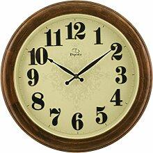 Modern/antik Europäische Massivholz Wanduhr 20 cm Genauigkeit Elektronik das Wohnzimmer Uhr , 2.
