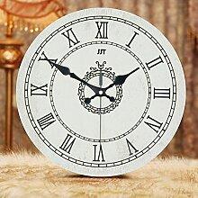Modern/antik Europäischen Kreativen Wohnzimmer ruhig- Quarz Wanduhr Wanduhr Moderne östlichen mediterranen Garten Retro Clock , 1.