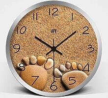 Modern/antik kreative Felder von Kunst und Mode Cartoon Füße stumm Europäischen minimalistischen Wohnzimmer Art Wall Clock Clock