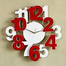Modern/antik kreative Mode im europäischen Stil einfach, extrem ruhigen Charakter Digital Art Clock , Weiß