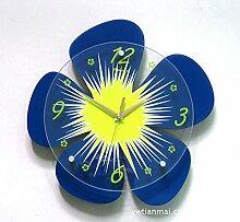 Modern/antik Liebe Four Leaf Clover Craft Silent Wall Clock Clock kreative Mode , blau