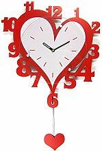 Modern/antik Rot Art Holzschaukel Liebe kreative Clock