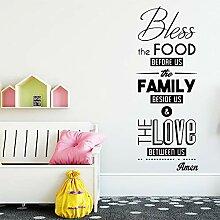 Modern Bless Family Wandkunst Aufkleber Aufkleber