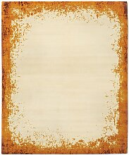 Modern Border Teppich in Burnt Orange von Knots