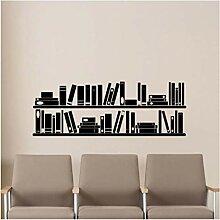 modern Bücher Bücherregal Wand Vinyl Aufkleber