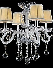 Modern Crystal Chandelier with 4 Lights