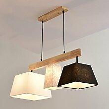 Modern Deckenlampe Holz Pendelleuchte Esstisch