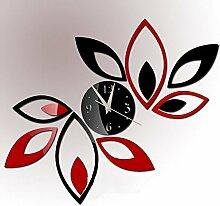 Modern DIY 3D Spiegel Uhr Dekor Zitat Abziehbar