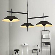 Modern Einfach LED Deckenleuchte, Trichterform Aluminium Metall Schatten Kronleuchter Innenraum Schlafzimmer Wohnzimmer Deckenbeleuchtung Restaurant Dekoration Beleuchtung , Black , 3 lamps