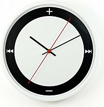 Modern Einfache Wanduhr Wohnzimmer Metall Mute Uhr