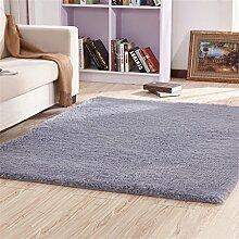 Modern Einfachheit Rechteck Teppich Wohnzimmer Matte Couchtisch Schlafzimmer Decke Bedside Pad Teppich Grau ( größe : 120*160cm )