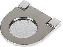 Modern Flush Pull Zinklegierung Türgriff Möbelgriff für Schrank Schublade-#1