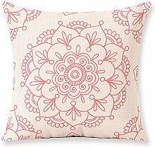 Modern geometric cotton and linen pillow cushions,model room sofa decoration pillowcase-E 60x60cm(24x24inch)VersionB