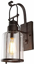Modern Industrielle Metall Glas Einzel Wandlampe