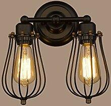 Modern Industrielle Metall Retro Wandlampe