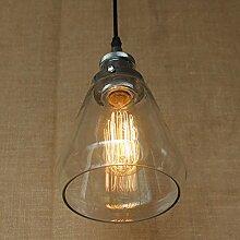 Modern Industrielle Vintage Glas Hängeleuchte,