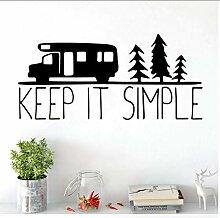 Modern Keep Simple Wandkunst Aufkleber