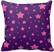 Modern Kissenbezüge für Sofa Couch Sterne Muster, Color1, 20x20 inch
