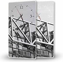 Modern - Lautlose Wanduhr mit Fotodruck auf