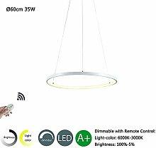 Modern LED Pendelleuchte Rund Design Hängeleuchte